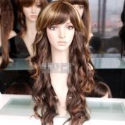 65cm Long Blonde Brown Mixed Wavy Fashion Hair WIG Sy09