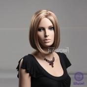 High Quality New Sexy Fashion Short Straight Bob Wigs Synthetic Dark Brown Women Hair