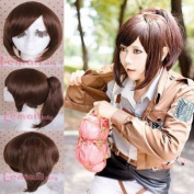 Shingeki No Kyojin Attack on Titan Sacha Blouse Brown Ponytail Cosplay Wig Cb62