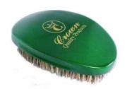 360 Gold Emerald Green Premium Caesar brush/Med. 100% Boar Bristles