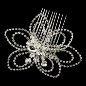 Paola Antique. Crystal & Rhinestone Flower Comb Wedding Bridal Special Occasion