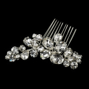 Leana Cluster Rhinestone Hair Comb Wedding Bridal Special Occasion