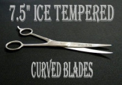19cm ICE Tempered Hair Stylists & Barbers Cutting Scissors Curved Blades 8567
