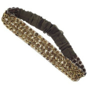 Karina - French Couture Sequined and Beaded Bandeau - Tantalising Brown #K10777X1