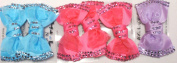 Sj.154, Set of Six Multicolor Polka Dot Ribbon Hair Bow Clip on French Barrette for Teens and Young Girls