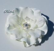 Bridal Hairpiece, Light Cream Bridal Flower Hair Clip