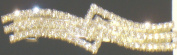 Genuine Gold Plated Simulated Jades and Crystals Studded Hair Clip for Women and Teens