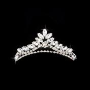 Bridal Wedding Jewellery Crystal Rhinestone Simple Chic Teardrop Hair Tiara Silver