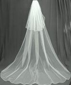 (Ship From USA) 2 Tier Cathedral Swarovski Crystal Rhinestones Bridal Wedding Veil Extra Wide