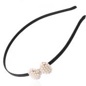 1Pcs Fashion Pearl Bowknot Hair Accessory Headband