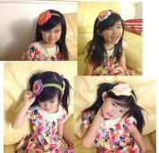 Handmade Crocheted Baby Headband PLUS A FREE GIFT BABY HAIR CLIP