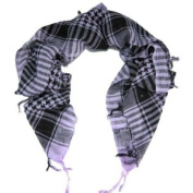 White & Black Shemagh Lightweight Arab Tactical Desert Keffiyeh Scarf