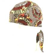 Fitted Bandana Du Rag Wrap Headwrap Ride the Wind Grey