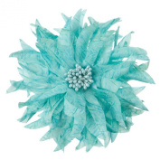 Silk Flower Point Leave Pin and Clip - Light Blue