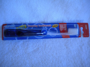 Blue Travel/Foldable SoFresh Adult Flossing Toothbrush, Soft