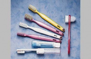 Lactona toothbrushes, M39, Multi Tufted Adult, Natural Bristle, 43 Tufts, Pk 12,