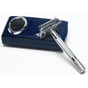 Shaving Factory Double Edge Safety Razor, Silver