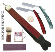 7 Pc Straight Razor Strop Soap Stone Mug Bursh Zp-038 Shaveing Set