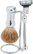 . Chrome-plated Shaving Set by ERBE, Solingen Germany