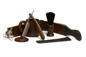 Wood Shaving Set with Leather Strop