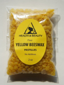 Yellow Beeswax Bees Wax Organic Pastilles Beards Pure 60ml