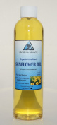 Sunflower Oil Organic Carrier Cold Pressed Unrefined Pure 240ml