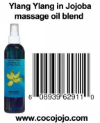 8 Oz 100% Natural Ylang Ylang in Jojoba Massage Oil Blend - Cananga Odorata - Hohoba - Simmondsia Chinenis