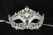 Venetian Grand Swan Crown Design Laser Cut Masquerade Mask Vibrantly Decorated and Intricately Detailed
