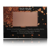 Styli-Style Bronze & Blush Tinted Blotting Papers - Radiant