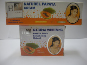 H20 Jours COMBO I. Naturel Papaya Cream -50g + H20 Natural Whitening Papaya Soap 225g