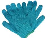 Sky Blue Exfoliating Gloves - 1 Pair