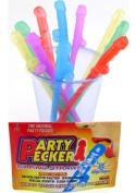 Party Pecker Straws 10pk - 5 Asst Colours