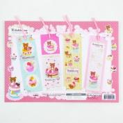 Rilakkuma Cupcake Bookmarks Set