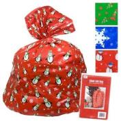 Giant 90cm x110cm Christmas Gift Bag Sack, Assorted Styles