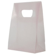 3 x 4 x 1 1/2 Pink Frosted Lunch Bags - sold individually