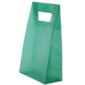 4 3/4 x 8 1/4 x 2 1/2 Green Frosted Lunch Bags - sold individually