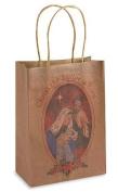 Christ the Saviour is Born Saint Joseph Blessed Virgin Mary Jesus Christ Holy Family Nativity 23cm Brown Paper Christmas Gift Bag Tote