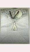 Wedding Gift Bag Silver with Tassel and Handles - 25cm X 13cm X 33cm