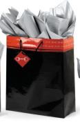 Polished Bits Super Jumbo Gift bag - Black/Red - Black/red