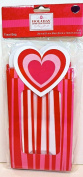 Jo-ann's Holiday Inspirations Valentine Treat Gift Bags,4x,cardboard/plastic,red/pink Stripes,heart