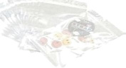 Wholesale Lot of 95 Pack Silver Tone Ziplock Item Packaging Gift Bags