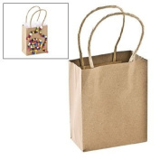 Small Craft Gift Bags - Party Favour & Goody Bags & Paper Goody Bags & Boxes