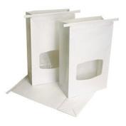 25 1 Lb. Tin Tie Bag Bakery Bag w/ Window - White