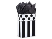 Domino Alley Rose Paper Shopper Gift Bags - Pack of 10