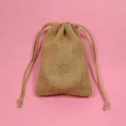 24 7.6cm x13cm Wedding Burlap Bags with Double Drawstrings