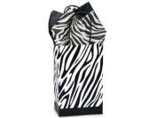 Zebra Rose Paper Shopper Gift Bags - Pack of 10