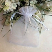 100 PCS 5''*7'' Sheer Organza Favour Bags White
