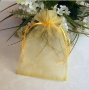 100 PCS 5''*7'' Sheer Organza Favour Bags Yellow
