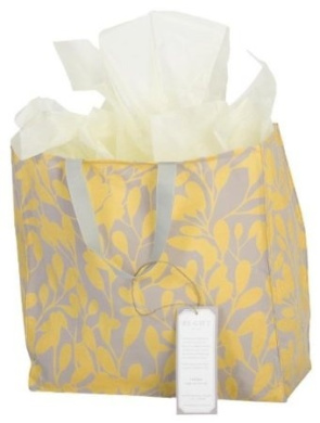 Working Class Studio The Re-Gift Collection Leaf Large Gift Bag, Slate