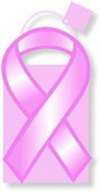 Pack of 6 Pink Ribbon Medium Die Cut Gift Bags